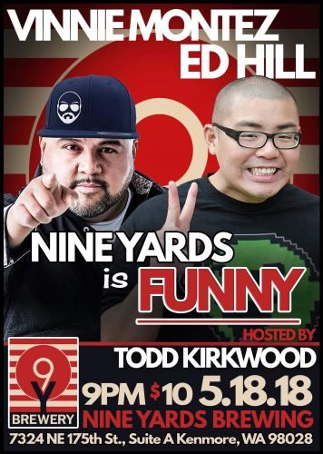 Comedy Show at Nine Yards Brewing @ Nine Yards Brewing | Kenmore | Washington | United States