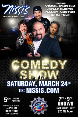 Vinnie Montez's THE COMEDY CREW @ Nissi's | Lafayette | Colorado | United States